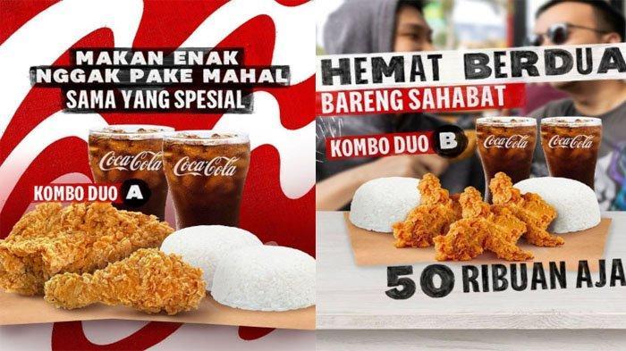 PROMO KFC Weekend Hari Ini 12 September 2021, Nikmati Kombo Duo dengan 3 Pilihan Paket 50 Ribu Saja