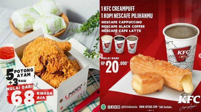 PROMO KFC Weekend Hari Ini 18 Juli 2021, Pesan 5 Ayam Goreng Favorit + 3 Nasi Cuma Mulai 68 Ribuan