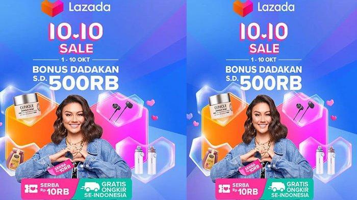 PROMO 10.10, Promo Lazada Fashion Wanita Sale Murah Nampol Bonus Dadakan 500 Ribu & Gratis Ongkir