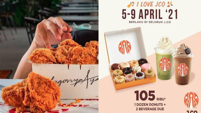PROMO Makanan dan Minuman Hari Ini Jumat 9 April 2021, JCO KFC Pizza Hut Chatime dan Dunkin Donuts