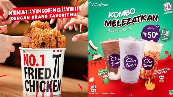 PROMO MAKANAN Hari Ini 1 Juli 2021, Nikmati Promo KFC McD Dunkin Donuts BreadTalk Chatime hingga A&W