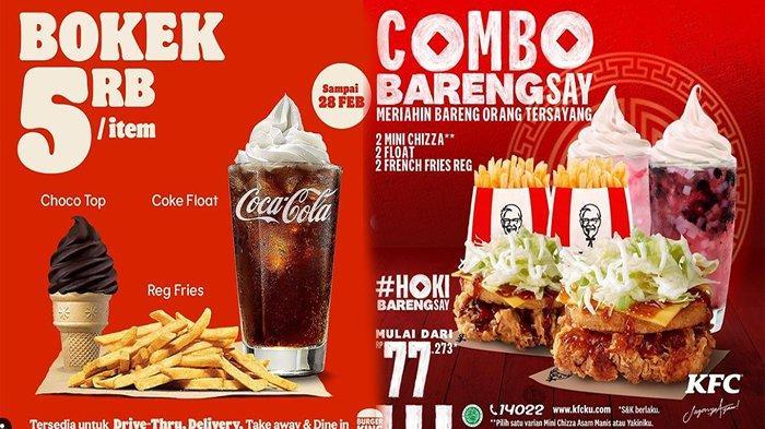 PROMO Makanan Hari Ini 12 Februari 2021 KFC JCO HokBen Burger King Hingga Dunkin Donuts