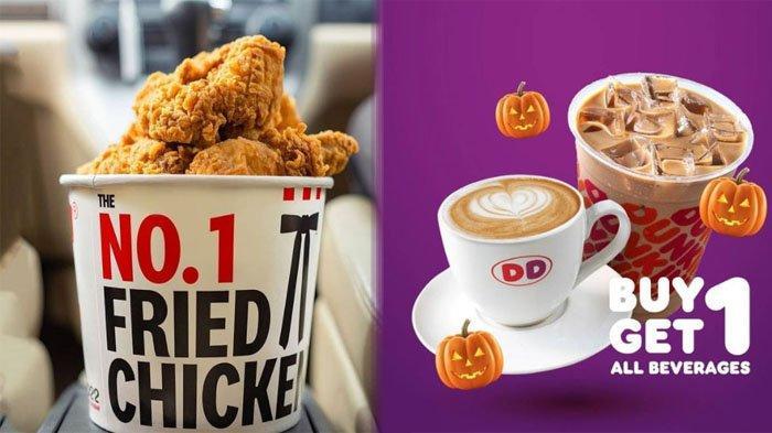 PROMO MAKANAN Hari Ini 12 Oktober 2021, Nikmati Menu KFC McD Pizza Hut Dunkin Donuts Chatime A&W