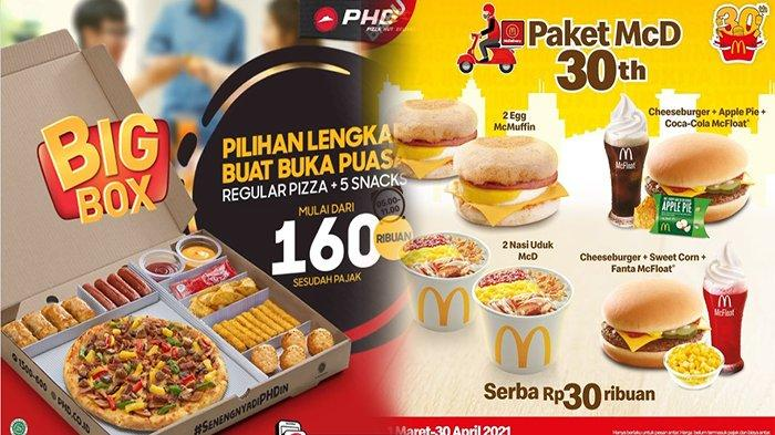 PROMO Makanan Hari Ini 17 April 2021, Promo Pizza Hut Delivery KFC McD A&W dan HokBen