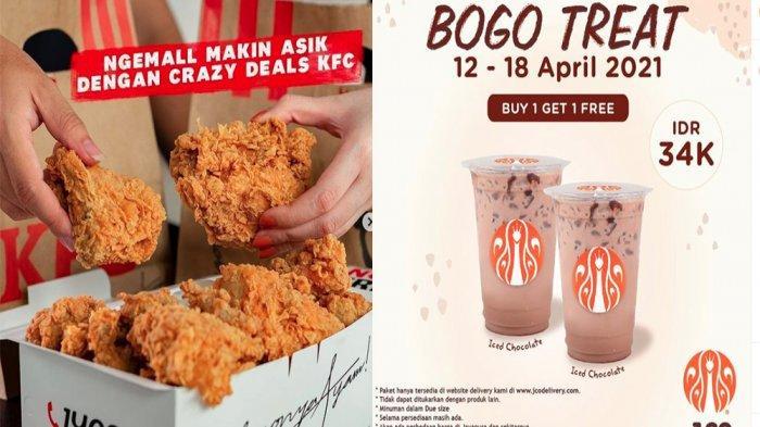 PROMO Makanan Hari Ini 18 April 2021, KFC JCO Pizza Hut Dunkin Donuts hingga Minuman Segar Chatime