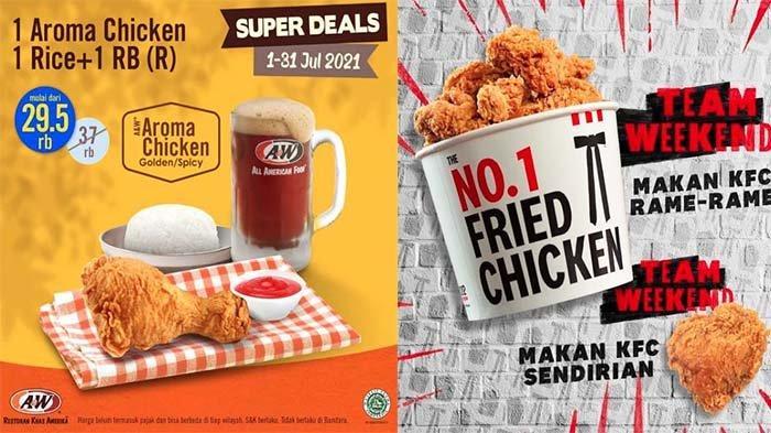 PROMO MAKANAN Hari Ini 2 Juli 2021, KFC McD Dunkin Donuts BreadTalk Chatime Texas Chicken A&W Hemat