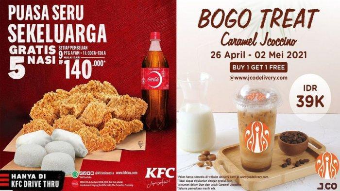 PROMO MAKANAN Hari Ini 2 Mei 2021, Nikmati Promo JCO KFC Pizza Hut Dunkin Donuts dan Breadtalk