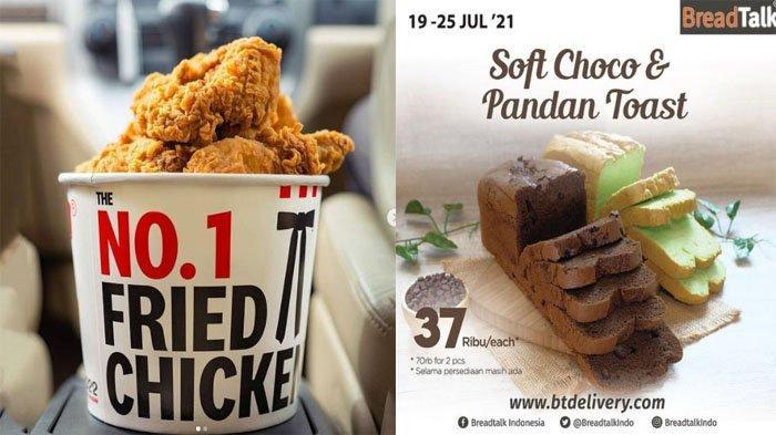 PROMO MAKANAN Hari Ini 20 Juli 2021, McDonalds KFC Breadtalk Texas Chicken Chatime Dunkin Donuts A&W