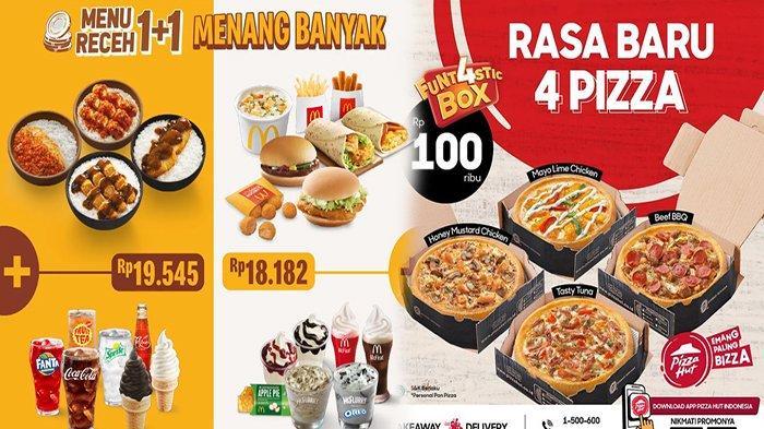 PROMO MAKANAN Hari Ini 21 April 2021, Promo Pizza Hut HokBen Burger King KFC dan McD