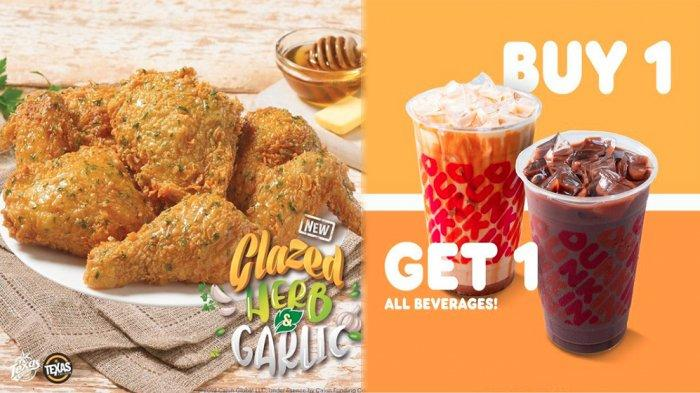PROMO MAKANAN Hari Ini 22 Juni 2021, Diskon KFC Texas Chicken A&W BreadTalk Dunkin Donuts & Chatime