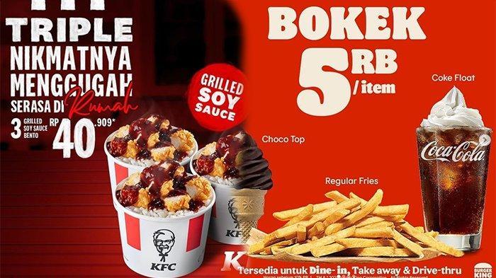 PROMO MAKANAN Hari Ini 23 April 2021, Dari KFC McD Burger King Pizza Hut HokBen & Bread Talk