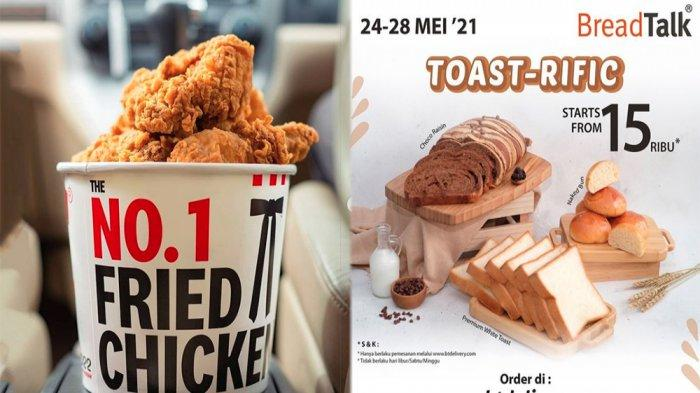 PROMO MAKANAN Hari Ini 24 Mei 2021, Nikmati Disko Menu JCO KFC Dunkin Donuts Pizza Hut dan BreadTalk