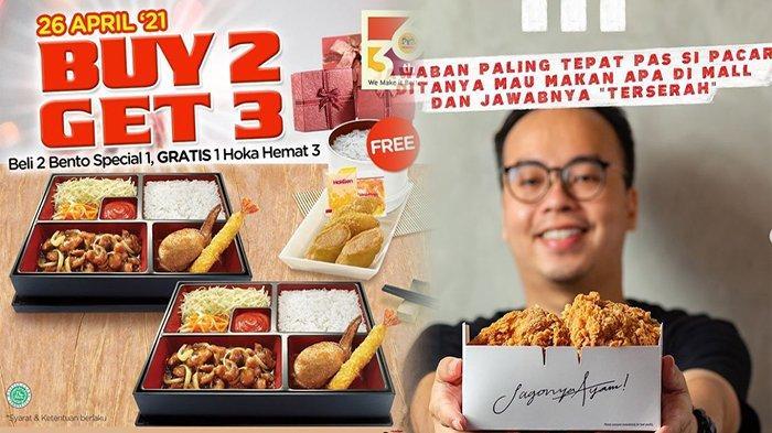 PROMO Makanan Hari Ini 26 April 2021, Promo Terbaru Jco McD KFC Pizza Hut & HokBen