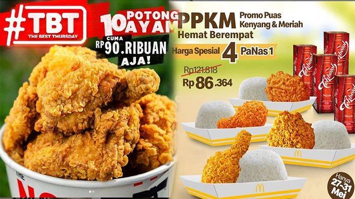 PROMO Makanan Hari Ini 29 Mei 2021, Promo Hemat Dari KFC A&W Jco McD dan HokBen