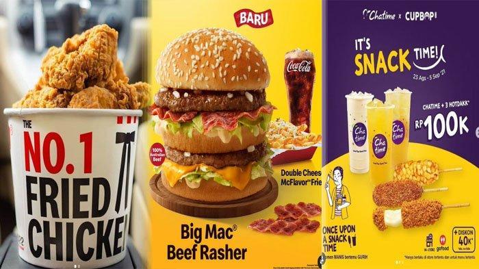 PROMO MAKANAN Hari Ini 3 September 2021, Nikmati McD KFC Texas Chicken Dunkin Donuts Chatime A&W