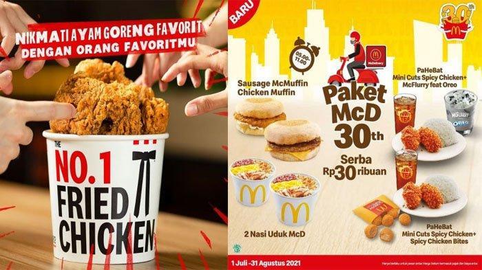 PROMO MAKANAN Hari Ini 5Juli 2021, Nikmati Promo McD KFC BreadTalk Chatime Texas Chicken hingga A&W