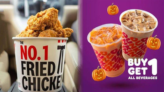 PROMO MAKANAN Hari Ini 5 Oktober 2021, Nikmati McD KFC Pizza Hut Dunkin Donuts Chatime BreadTalk A&W