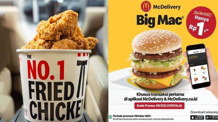 PROMO MAKANAN Hari Ini 7 Oktober 2021, Nikmati A&W McD KFC Pizza Hut BreadTalk Chatime Dunkin Donuts