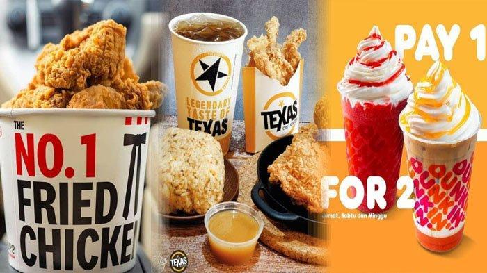 PROMO Makanan Hari Ini Jumat 9 Juli 2021, McD KFC Dunkin Donuts Texas Chicken BreadTalk Chatime A&W