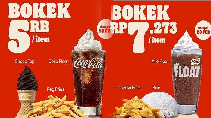 PROMO Makanan Mulai 5 Ribuan Hingga 10 Ribuan, Ada di KFC, Bread Talk & Burger King