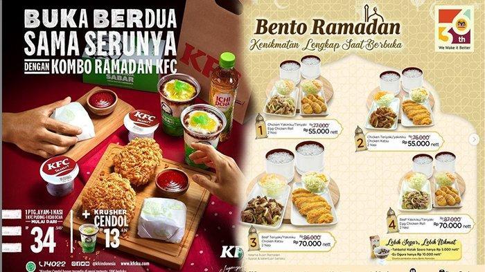 PROMO Makanan Ramadhan 15 April 2021, Yuk BUkber di KFC Jco Dunkin Donuts & Hokben