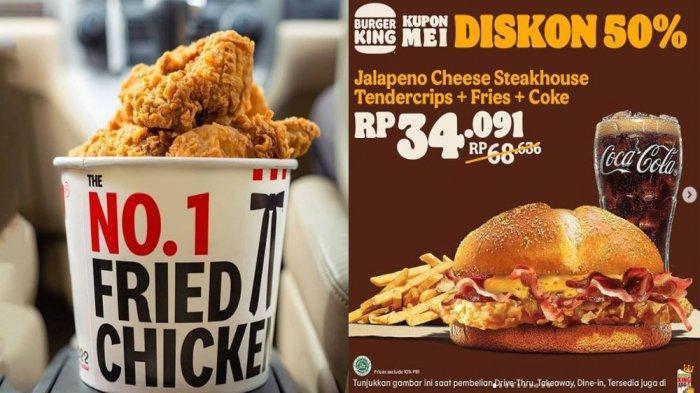 PROMO MAKANAN Terbaru Hari Ini 3 Mei 2021, Nikmati Menu KFC JCO Burger King Dunkin Donuts Pizza Hut