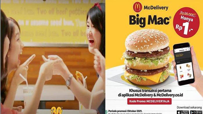 Promo MCD Hari Ini 6 Oktober 2021 Terbaru, Hanya Rp 1 Bisa Nikmati Big Mac