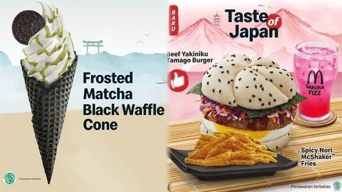 PROMO McDonalds Hari Ini 8 Juli 2021, Frosted Matcha Black Waffle Cone & Beef Yakiniku Tamago Burger