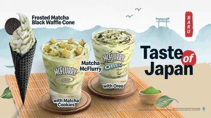 PROMO McDonalds Hari Ini 9 Juli 2021, Menu Frosted Matcha Black Waffle Cone & Oreo Strawberry Cookie