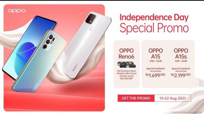 PROMO Oppo Terbaru Agustus 2021, Beli Reno6 Gratis Wireless Mini Home Theater   A15 Diskon !