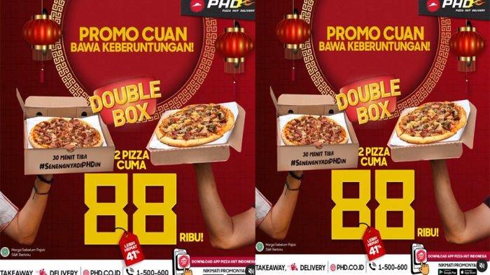 PROMO PHD Pizza Hut Delivery Hari Ini 12 Februari 2021, Promo Cuan Double Box 2 Pizza Cuma 88 Ribu