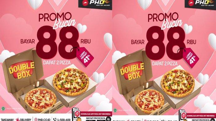 PROMO PHD Pizza Hut Delivery Hari Ini 14 Februari 2021, Promo Bucin Double Box Cuma 88 Ribuan