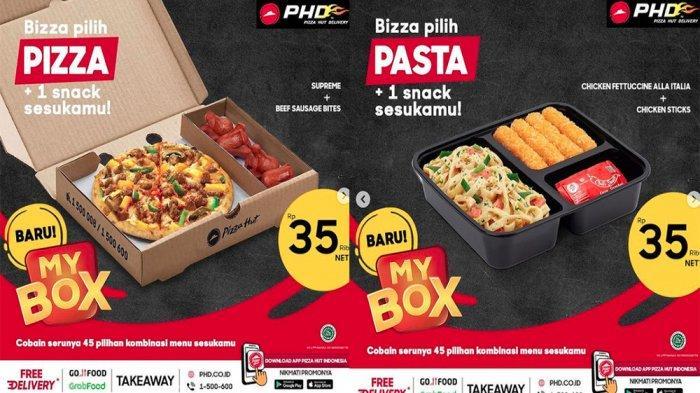 PROMO PHD Pizza Hut Delivery Hari Ini 3 Juni 2021, My Box Bisa Pilih Pizza & Snack Cuma 35 Ribuan