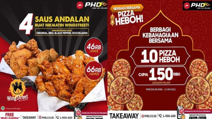 PROMO PHD Pizza Hut Delivery Hari Ini 5 Mei 2021, Menu Chicken WingStreet dengan 4 Saus Andalan