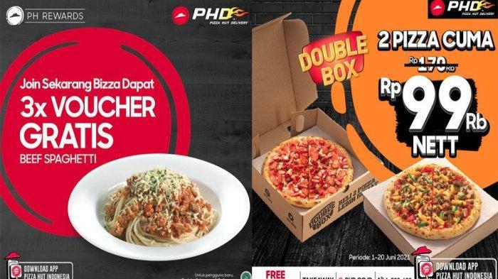 PROMO PHD Pizza Hut Delivery Hari Ini 7 Juni 2021, Voucher Gratis Beef Spaghetti hingga Double Box