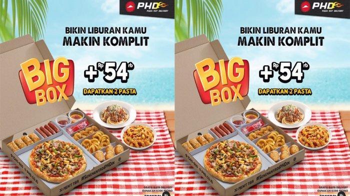 PROMO PHD Pizza Hut Delivery Terbaru Desember 2020, Makan Hemat Big Box + Rp 54 Ribu Gratis 2 Pasta