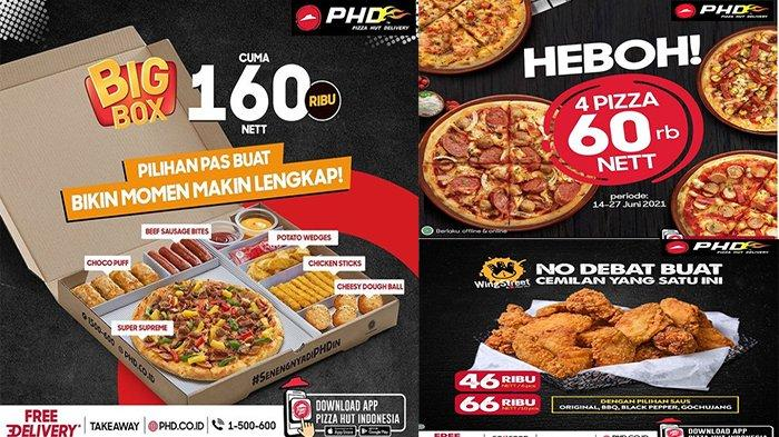 PROMO Pizza Hut Delivery Hari Ini 19 Juni 2021, My Box Pizza Hut Pilihan Pizza, Pasta atau Nasi?