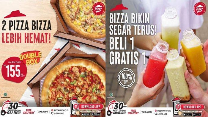 PROMO PIZZA HUT Hari Ini 11 Oktober 2021, 2 Pizza Lebih Hemat Double Box & Beli 1 Gratis 1 Minuman