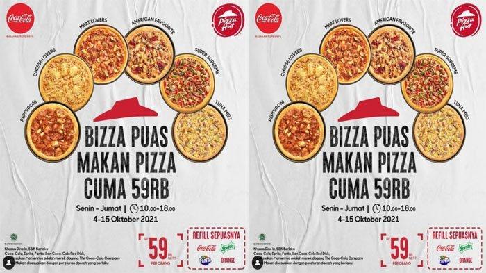 PROMO PIZZA HUT Hari Ini 12 Oktober 2021, Masih Ada All You Can Eat Makan Sepuasnya Cuma Rp 59 Ribu
