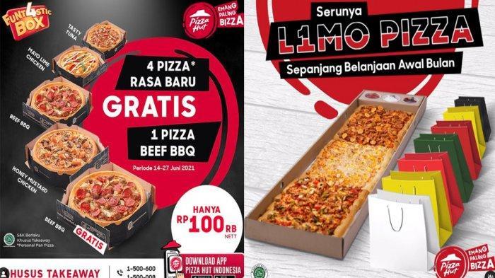 PROMO PIZZA HUT Hari Ini 15 Juni 2021, Beli 4 Pizza Rasa Baru Funt4stic Box Gratis 1 Pizza Beef BBQ