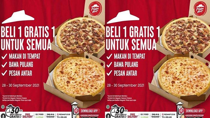 PROMO Pizza Hut Hari Ini 28 September 2021, Dapatkan Gratis Cheese Pizza Promo Beli 1 Gratis 1