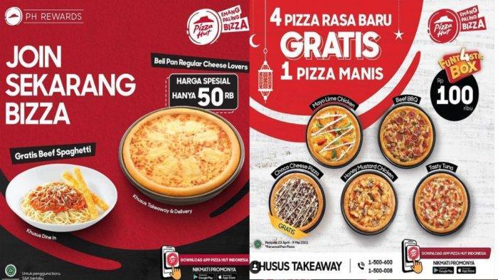 PROMO PIZZA HUT Hari Ini 4 Mei 2021, Beli Pan Regular Cheese Lovers Rp 50 Ribu Gratis Beef Spaghetti