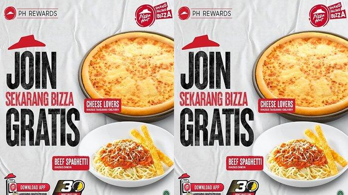 PROMO PIZZA Hut Hari Ini 6 September 2021, Asyiiik Ada Gratis Beef Spaghetti & Cheese Lovers Pizza