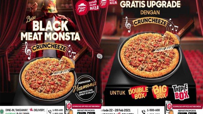 PROMO PIZZA HUT Terbaru Hari Ini 22-28 Februari 2021, Nikmati Menu Baru Black Meat Monsta Cruncheeze