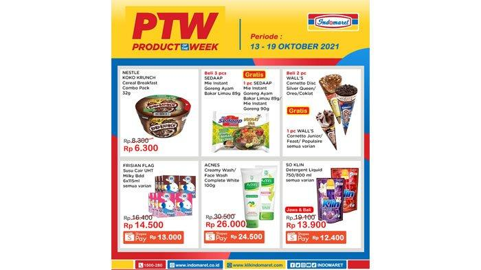 Promo Product Of The Week Indomaret Periode 13 - 19 Oktober 2021.