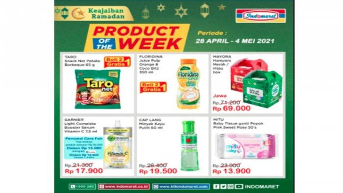 Promo Product of the week Indomaret Periode 28 April - 4 Mei 2021.