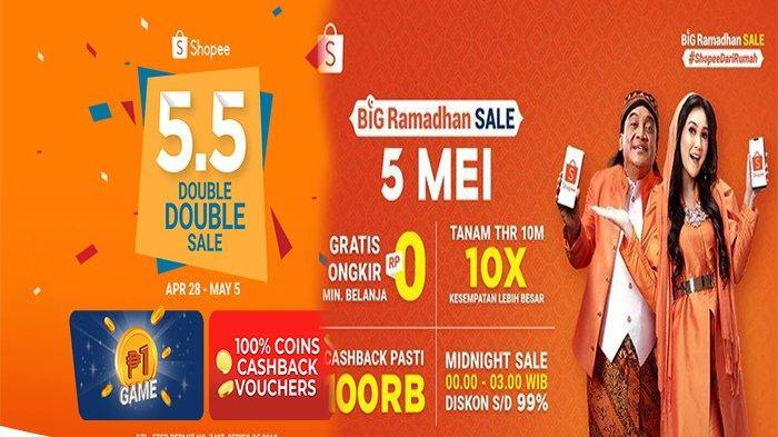 PROMO Shopee 5.5, Belanja Rp 0 Gratis Ongkir, Jangan Lewatkan!
