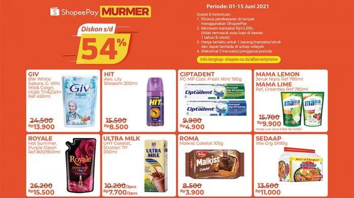 Promo ShopeePay Murmer Periode 1 - 15 Juni 2021.