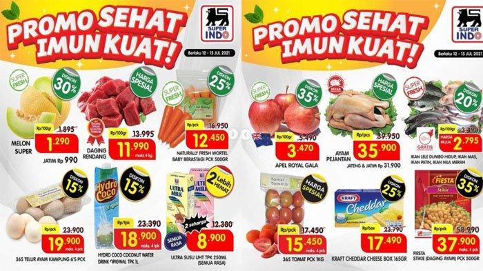 PROMO SUPERINDO Hari Ini 13 Juli 2021, Super Hemat Melon Super, Daging Rendang hingga Ultra Susu UHT