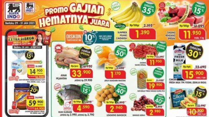 PROMO Superindo Hari Ini di Surabaya & Kota Besar Lainnya, Update Promo Superindo Terbaru 29 Januari